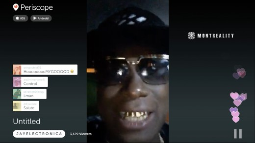 JAY ELECTRONICA Snappin' on Periscope / Kendrick Lamar & 50 Cent Diss