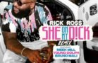 Rick Ross x Meek Mill, Young Dolph x Bruno Mali – She On My D!ck (Remix)