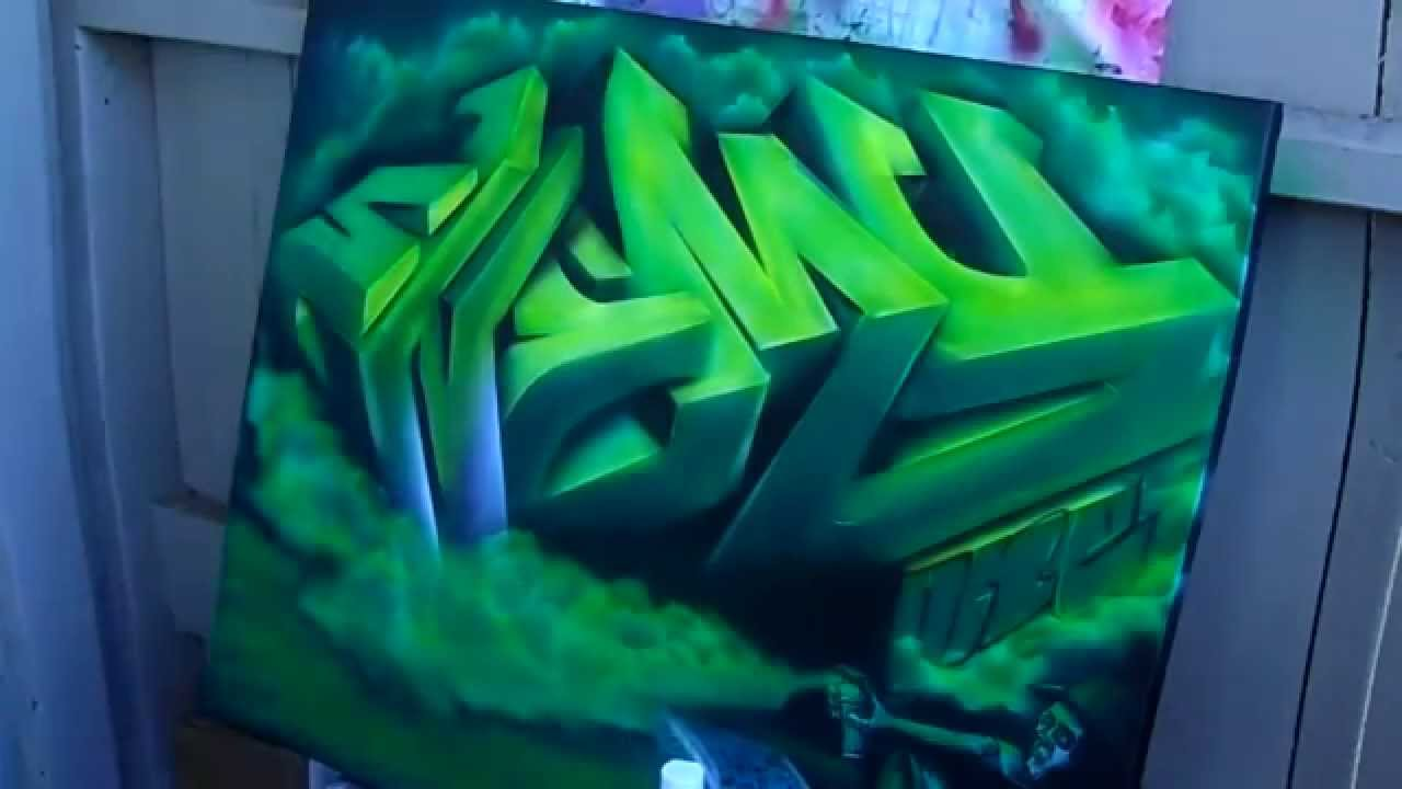 3D #Graffiti on canvas