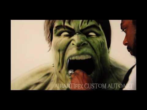 "Airbrushing  – ""The Hulk"""